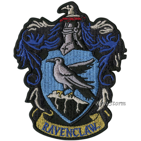 "Harry Potter Ravenclaw Bird Crest Embroidered IRON ON Patch Badge 3 1/2"" x 4""  Unbranded 1"