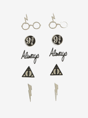 Licensed Cool Harry Potter Deathly Hallows 5 Pair Post Insertion