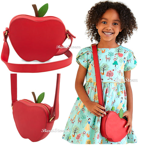 Licensed cool NEW Snow White & 7 Dwarfs Red Apple Girls Fashion Hand Bag  Purse Disney Store