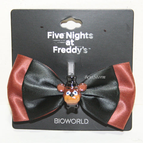 Five Nights At Freddy's Freddy Costume Cosplay Hair Bow w/ 3D Fazbear Charm NEW Five Nights at Freddy's/bioworld 1