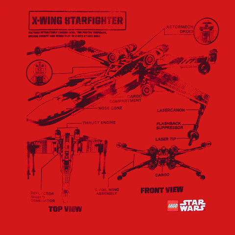 Lego star wars x wing star fighter blueprint t shirt nwt 100 lego star wars x wing star fighter blueprint t shirt nwt 100 authentic s 3xl malvernweather Images