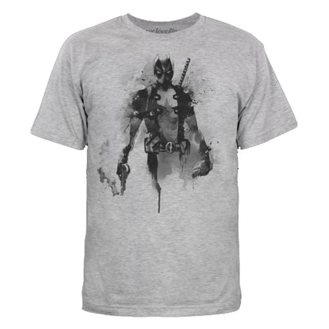 Marvel DEADPOOL SUMI-E JAPANESE Charcoal Grey Adult Licensed T-Shirt - S-2XL Mighty Fine