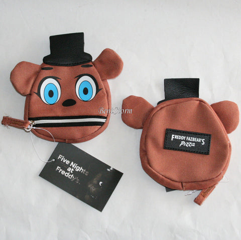 Five Nights At Freddy's Freddy Fazbear FACE Hat Makeup Coin Purse Zip Mouth NEW Five Nights at Freddy's/bioworld 1