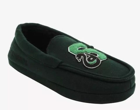 HARRY POTTER: Slytherin Moccasin Slipper Shoes - XS & Loot Crate Pin Hot Topic 1