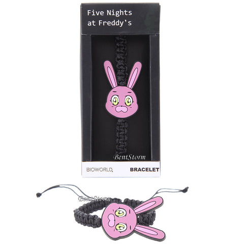 NEW BONNIE THE PINK BUNNY PARA-CORD ADJUSTABLE BRACELET FIVE NIGHTS AT FREDDY'S  Five Nights at Freddy's Pizza 1