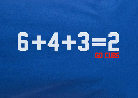 Chicago Cubs 6 + 4 + 3 = 2 Double Play sign hooded hoodie sweatshirt - Animetee - 2