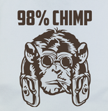 Pop Culture Trendy Funny 98% Chimp Tshirt Tee T-Shirt Ladies Youth Adult Unisex - Animetee - 2