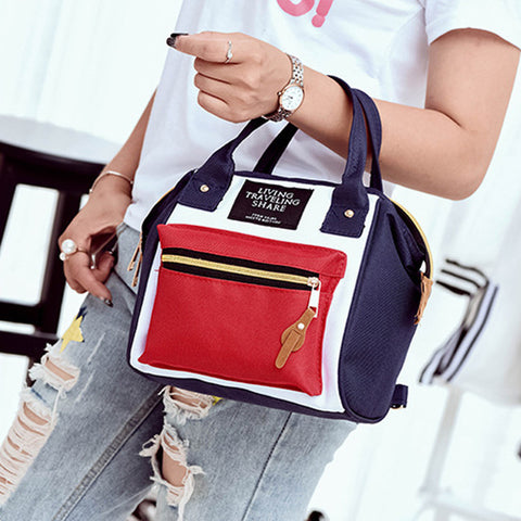 AEQUEEN Women Small Canvas Backpacks Female Japan Schoolbags College Shoulder Bags Dual Use Mini Rucksack Bookbag Mochila 2018 Aequeen Wonder Store 1
