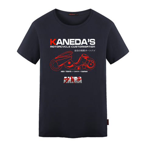 AKIRA Kaneda's Motorcycle Customisation t shirt Japanese Retro Anime T-shirt Tee Mens Cotton Adult t shirt S-5XL Flevans AnimationTee Store 1