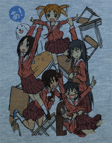 Custom Fanmade Azumanga Daioh Group Students Cosplay Shirt T-Shirt Tee - Animetee - 2