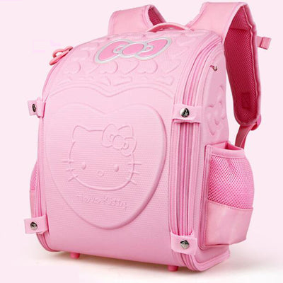AOLIDA Children Backpack For Girl Hello Kitty Bag Japanese School Bag Kid Randoseru Student Bookbag Orthopedic school backpa SB1 Corty Casual Store 1