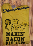 Trendy Pop Culture Adventure Time Jake Making Makin Bacon and Pancakes tee t-shirt tshirt Toddler Youth Adult Unisex Ladies Female All Sizes - Animetee - 1