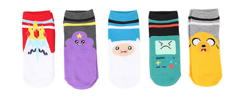 Officially Licensed Adventure Time Varsity No-Show Socks 5 Pair - Animetee