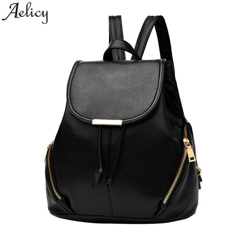 e78c84147d Aelicy Fashion Small Backpack Women Famous Designer Leather Black Shoulder  Bags Girls School Bag Teenager Student