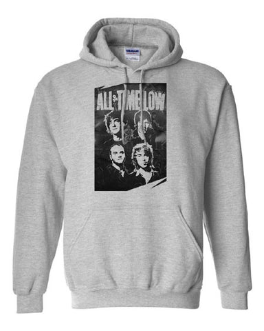 Copy of All Time Low band poster Hoodie Hooded Sweatshirt - Animetee - 1
