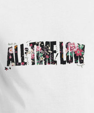 All Time Low floral logo t-shirt tee - Animetee - 1