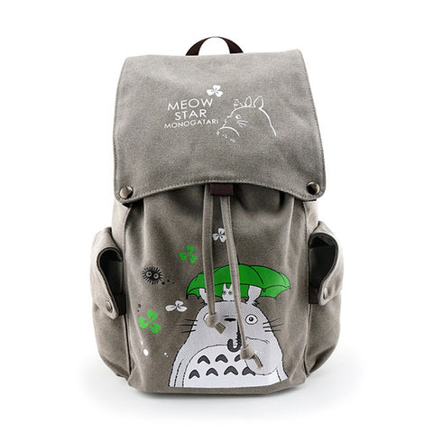 71646883da3c Anime Attack on Titan Canvas Backpack My Neighbor Totoro Travel Schoolbag  Large cosplay Rucksack for Teenagers