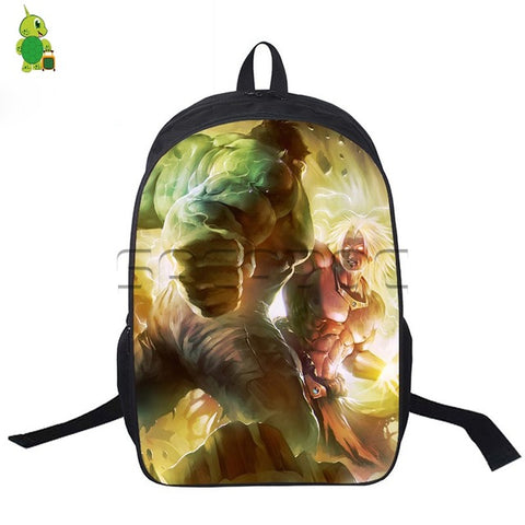 HULK Crossovers Backpack Dragon Ball Avengers Laptop Backpack Women Men  Travel Rucksack 58d3fcc31a72c