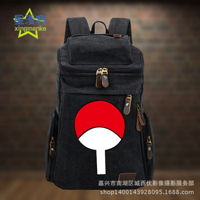 Anime Backpack Naruto COSPLAY Creative Simple Casual Fashion Retro College Style Men&Women Canvas Backpack Hangzhou Manxia Backpack Store 1
