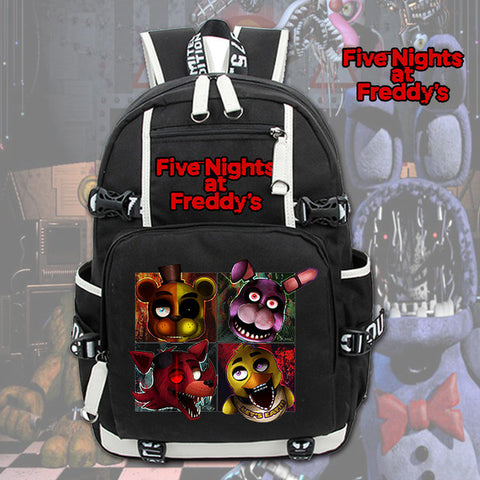 Anime Cartoon Women Men Backpack Five Nights At Freddy's Freddy Backpack Chica Foxy Bonnie FNAF Laptop Shoulders Bag School Bags cheng xin Anime Store 1