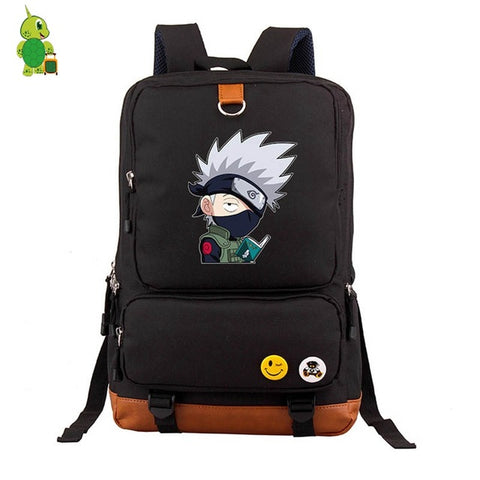 Anime Chibi Naruto Backpack Kakashi Naruto Sasuke School Bag for Teenage Boys Girls Laptop Backpack Large Capacity Travel Bags Anime Bag World Store 1