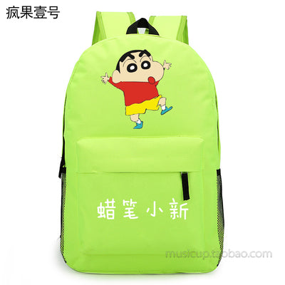 Anime Crayon Shin-chan Cosplay 2017 New Student Backpack Men & Women Backpack Travel Simple Canvas Bag Hangzhou Manxia Backpack Store 2