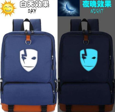 Anime DARKER THAN BLACK Mask Backpack Printing Luminous Canvas Teenagers Laptop schoolbag women men travel shoulder bag Mochila Shop1411065 Store 1