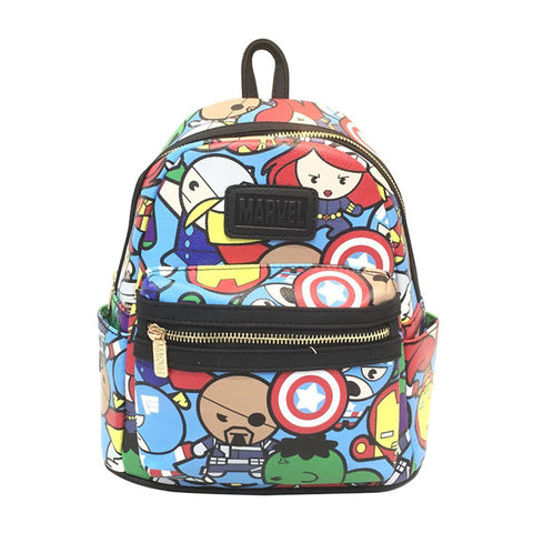 c60ec21856cd Anime Deadpool Leather Backpack Cartoon Hero Batman Wonder Woman Marvel DC  Star Wars Rick and Morty