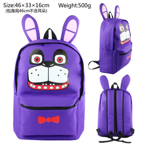 Anime FNAF Five Nights at Freddy's Canvas Backpack Casual Bag Men women's School Bags travel Bag Laptop Children Book Bags Burning-YU Store 1