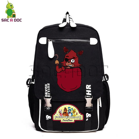 Anime Five Nights At Freddy's Canvas Backpack Bonnie Fazbear Freddy Chica School Bags Women Men Laptop Travel Backpacks Shop3126025 Store 1