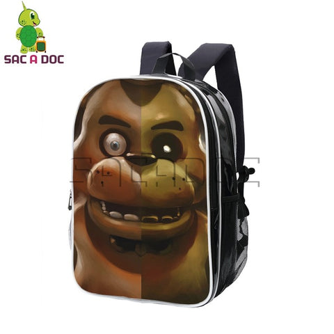 Anime Five Nights At Freddy's Freddy Split Backpack Pu Leather Backpacks Students School Bag for Teenage Boys Girls Travel Bag Shop3126025 Store 1