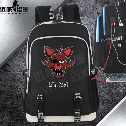Anime Five Nights at Freddy's Gold Freddy backpack Canvas with USB Charging shoulder travel bag Teenage Girl Backpacks Shop2882156 Store 1