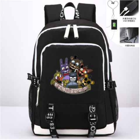 Anime Five Nights at Freddy's Knapsack Leisure Laptop bag New USB Travel Bags Teenagers Student's Backpack ANIME FANS COSTUME Store 1