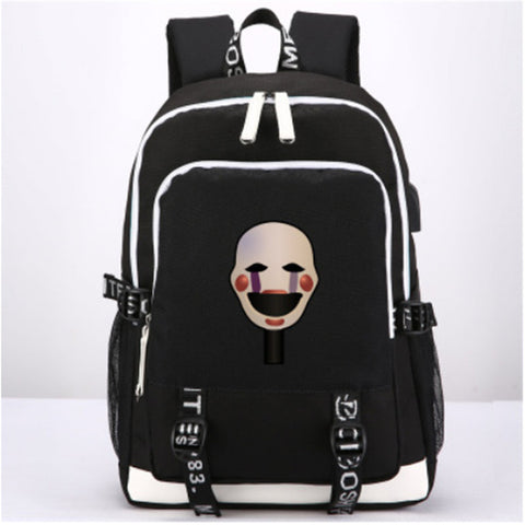 Anime Five Nights at Freddy's Knapsack Leisure Laptop bag Teenagers Student's Backpack New USB Travel Bags ANIME FANS COSTUME Store 1