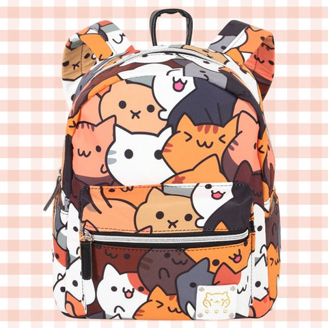 Anime Backpack School kawaii cute Girl Backpack Neko Atsume Totoro boy  girl's Student School Bags travel Shoulder Bag Casual Bags Gift AT_60_4