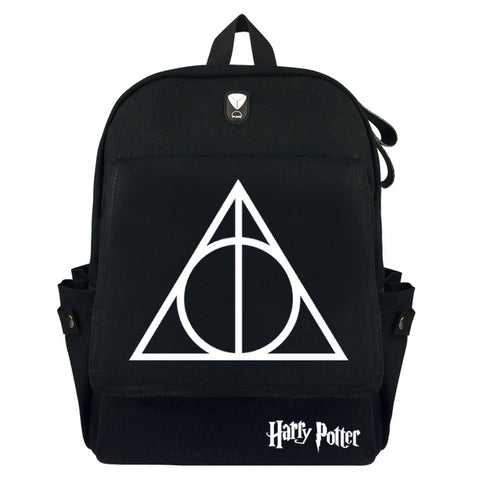 Anime Harry Potter Men Women Cartoon Backpack Haversacks Casual Travel Bag Shoulders School Bags Unisex Rucksack cheng xin Anime Store 1