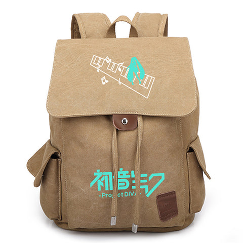 Anime Hatsune Miku Canvas Backpack Cool Children School Bags for Teenagers Womens Mens Travel Laptop Backpack Shop3126025 Store 2