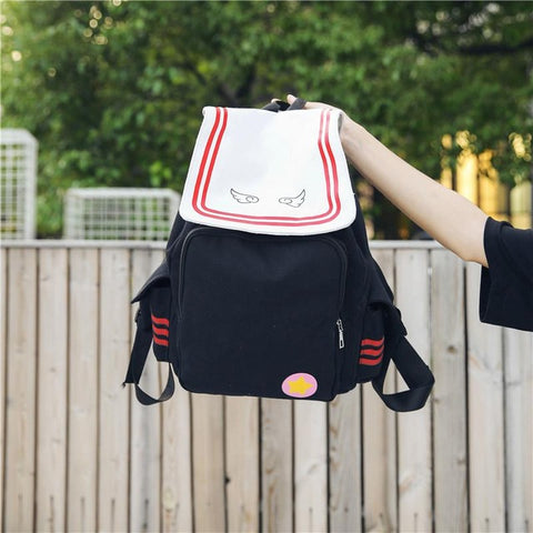 Anime Magic Sakura Backpack Magical Card Sakura Canvas Backpack Japanese-style String Bags Large Capacity School Bag Shop2808088 Store 1