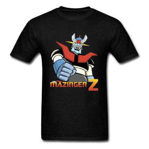 Anime Mazinger Z T-shirt Men T Shirt Fashion Black Tops Warrior Lover Clothing Robot Tees Japan Classic Anime Tshirt STREET TRIBE Store 1