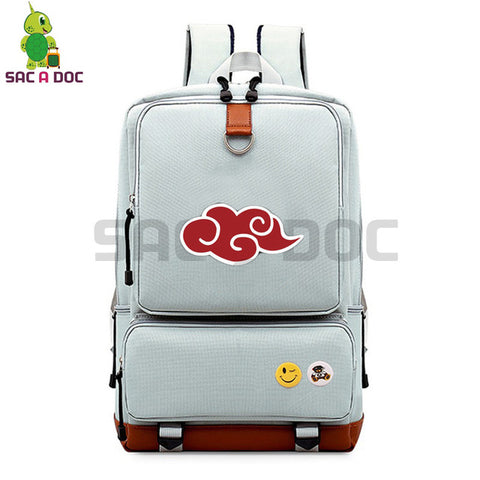 Anime Naruto Akatsuki Canvas Backpack Daily Backpack Uchiha Itachi Sasuke Sharingan Cosplay School Bags for Teenagers Travel Bag Shop3126025 Store 1