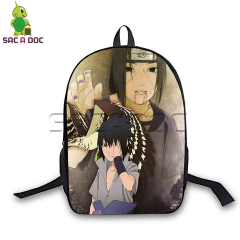 Anime Naruto Backpack Sasuke Itachi School Bags for Teenagers Girls Boys Daily Laptop Backpack Students Cosplay Travel Bag Shop3126025 Store 1