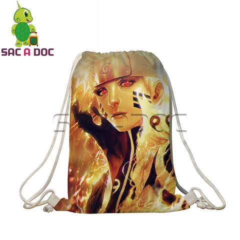 Anime Naruto Backpack Teens Students School Bags Naruto Sasuke Kakashi Prints Travel Softback Women Men Drawstring Bags Shop3126025 Store 1