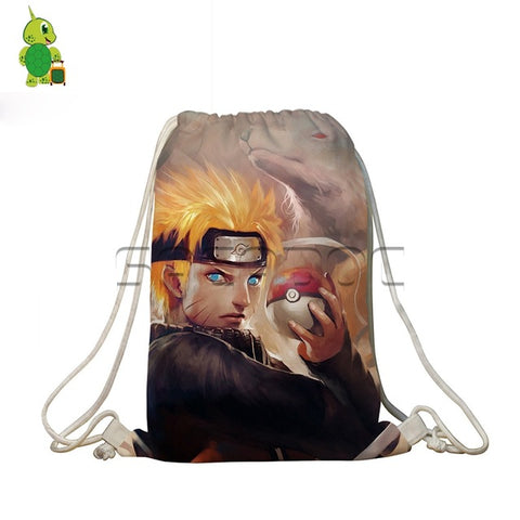 Anime Naruto Pokemon Crossovers Backpack Tokyo Shoul Venom Printed Drawstring Bag Softback Travel Bags Boys Girls School Bags Anime Bag World Store 1