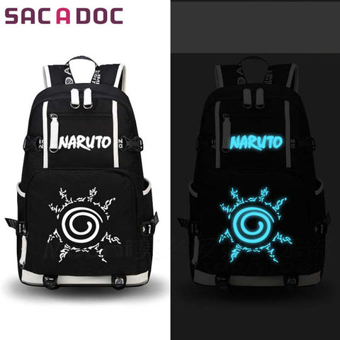 Anime Naruto Printing Backpack Uchiha Sasuke Sharingan Luminous School Bag For Teens Girls Boys Cartoon Travel Backpack Shop3126025 Store 1