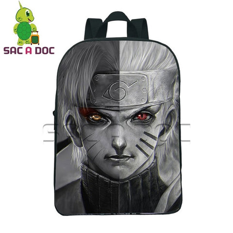 Anime Naruto Sage Nine-Tails Naruto Split Backpack Portable Bags Teenagers Boys Girls Mini Travel Bag Children School Bags Shop3126025 Store 1