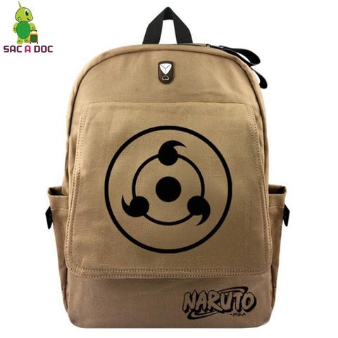 e602e9d3c665 Anime Naruto Sharingan Backpack for Teenage Girls Boys Vintage Canvas School  Backpack Multifunction Headphone Jack Travel