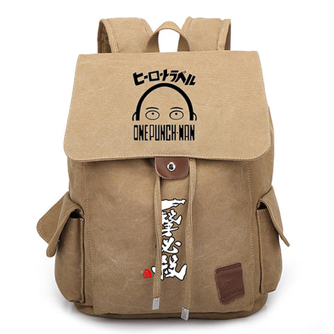 Anime One Punch Man Canvas Backpack Boys Girls Students School Bags Cool Womens Mens Travel Laptop Backpack Shop3126025 Store 2