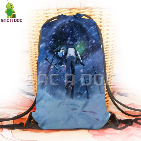 2fa3d9350cb5 Anime Backpack School kawaii cute Re:Life In A Different World From Zero  Drawstring Bag Rem 3D Printing Backpack for Teenage Boys Girls School  Travel ...