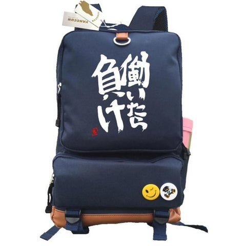 Anime THE IDOLM@STER cosplay Backpack Anime futaba anzu Canvas Bag Luminous Schoolbag Travel Bags COS BAG MADE Store 2