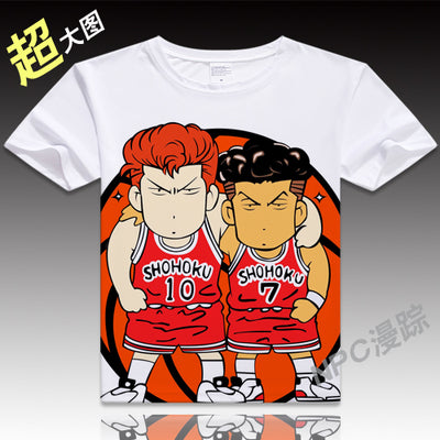 Anime Unisex Tops Tee SLAM DUNK T-shirt Japan Anime Son Sakuragi Hanamichi T Shirt Men Comfortable Breathability Tees VXOFashion Store 1
